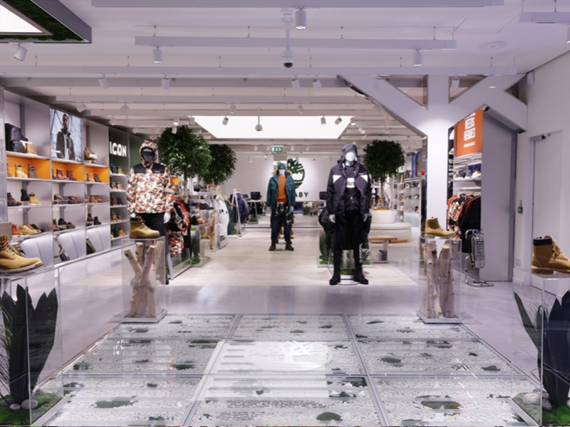 Designer Hardwood - Examples of Sustainable Materials In Stores - Timberland